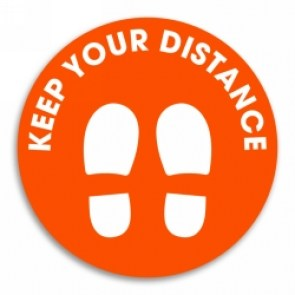 keep-you-distance-orange-circle