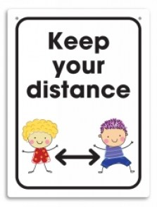 keep-your-distance-school-wall-sign