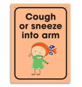 Cough or Sneeze in Arm Wall Sign