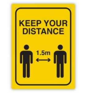 Keep Your Distance Wall Sign
