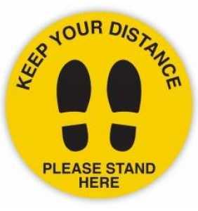 Social Distancing Decal Floor Sign Feet