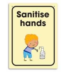 Sanitise Hands Wall Sign